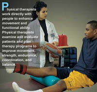 Physical therapy works directly with patients for helaing back pain and other injuries in Tyler,  texas and  and the .